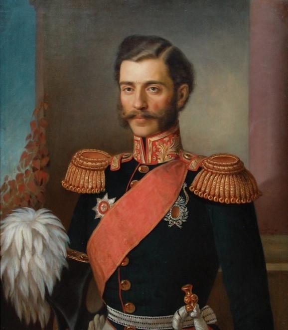 Johanes Bes, Knez Mihailo Obrenović, 1856. Narodni muzej u Beogradu