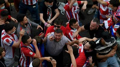 Thousands of Atletico fans defy pandemic by celebrating title triumph in Madrid