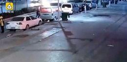 Szokujące nagranie. Samochód płonął jak pochodnia, w środku była kobieta