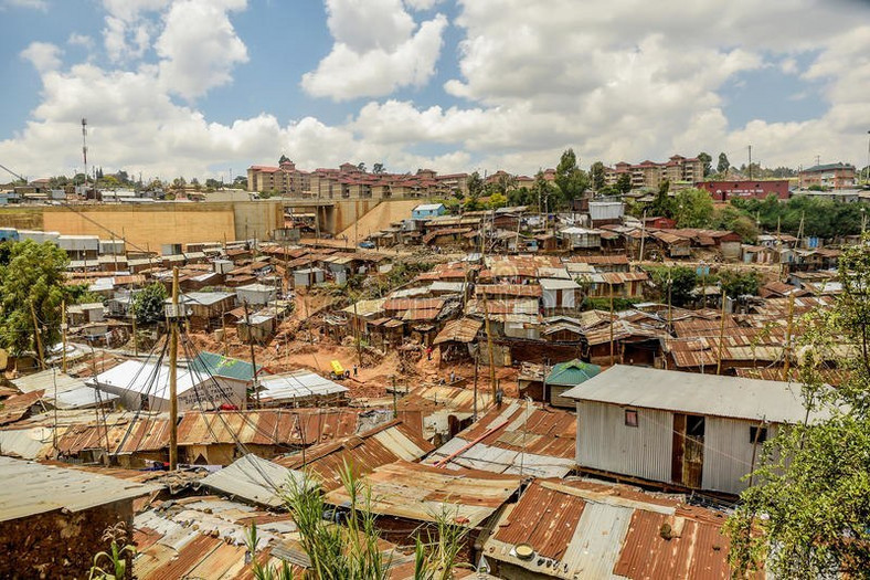 A view of Kibera Slums.
