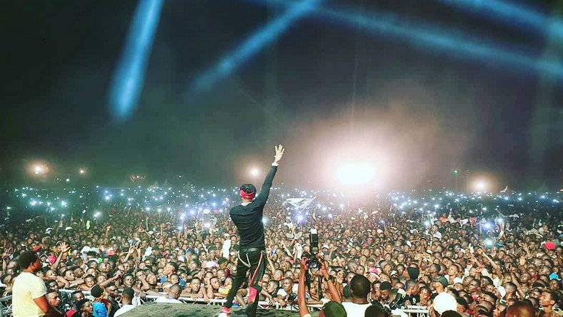 Diamond at a past event in Burundi. Diamond Platnumz brings Minnesota and New York to a standstill (Videos)]