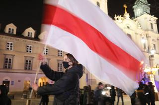 W Warszawie odbyła się manifestacja solidarności z Białorusią
