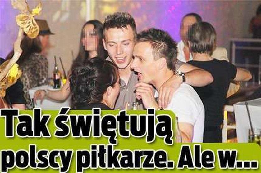 Kebab i browar. Tak świętują polscy piłkarze! Ale w...