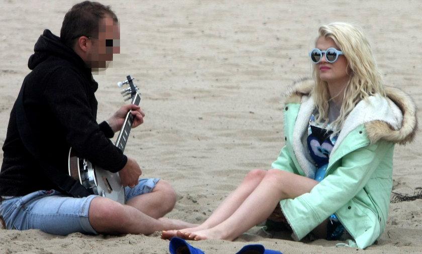 Margaret, plaża, partner