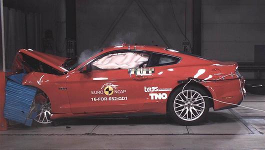 Ford Mustang oblał test zderzeniowy Euro NCAP