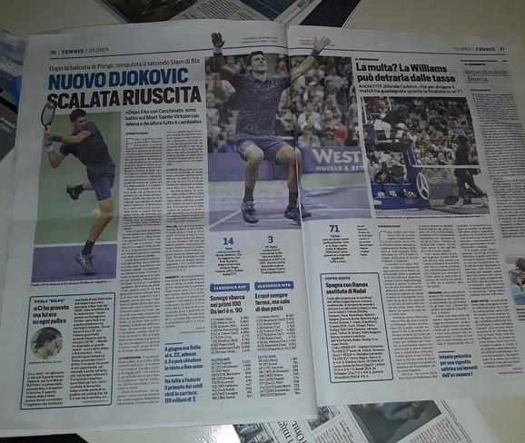 Italijanske novine o Đokovićevom trijumfu u Njujorku