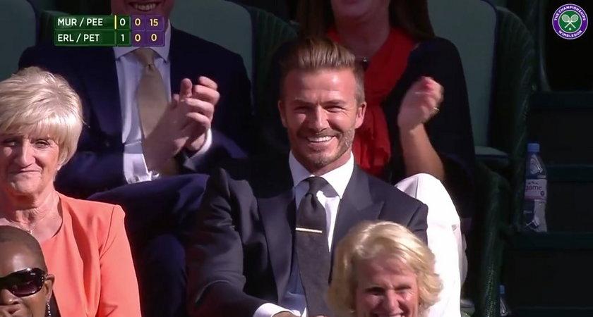 Beckham skradł show na Wimbledonie