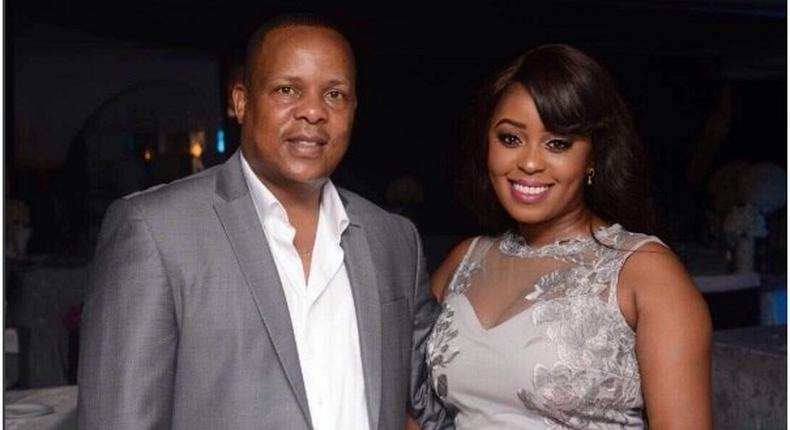 Lilian Muli and Shabana FC Boss Jared Nevaton who claims to be responsible for her Pregnancy