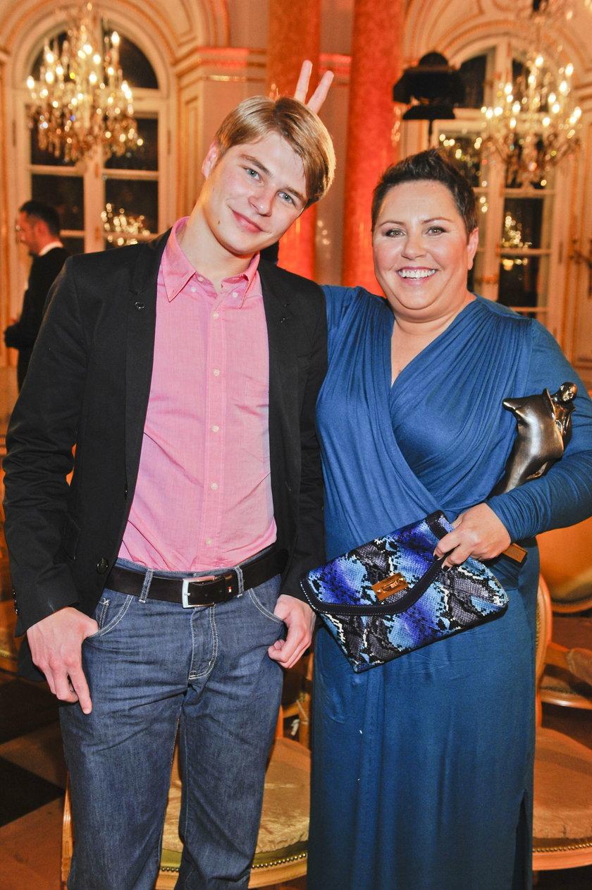 Dorota Wellman z synem