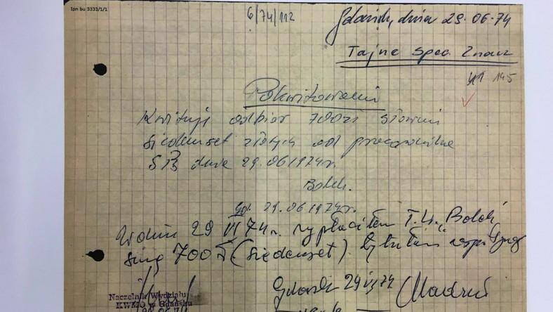 """Dokumenty z teczki agenta TW """"Bolek"""", jakie upublicznił Lech Wałęsa"""