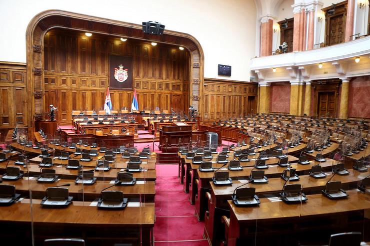 Skupština Srbije, prazna sala