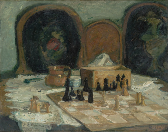 Šah, 1933, 72x91cm, Spomen zbirka Pavla Beljanskog