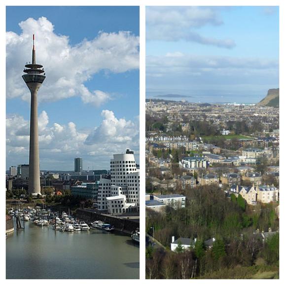 Diseldorf i Edinburg. Primećujete li razliku?