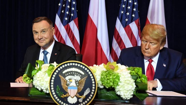 Prezydent Andrzej Duda i prezydent Donald Trump