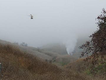 Öten haltak meg a helikopter balesetben / Fotó: kaliforniai seriffhivatal