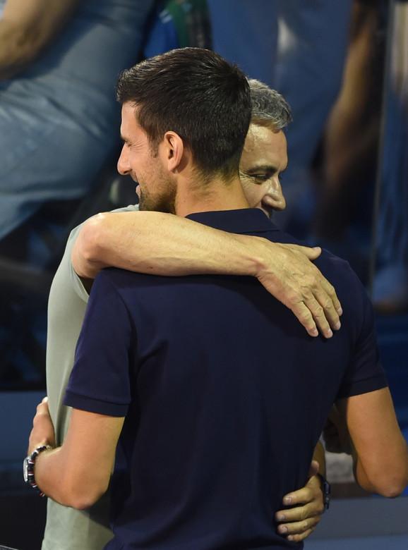Novak i otac Srđan Đoković na finalu Adria tour turnira u Beogradu između Filipa Krajinovića i Dominika Tima