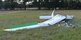 Szybowiec rozbił się kilka kilometrów od lotniska. Młody pilot trafił do szpitala