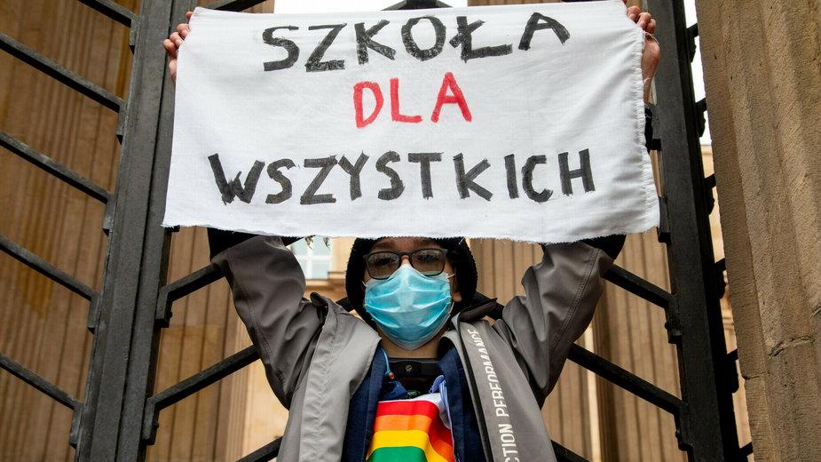 """Protest przeciwko ustawie """"Tak dla rodziny, nie dla gender"""""""