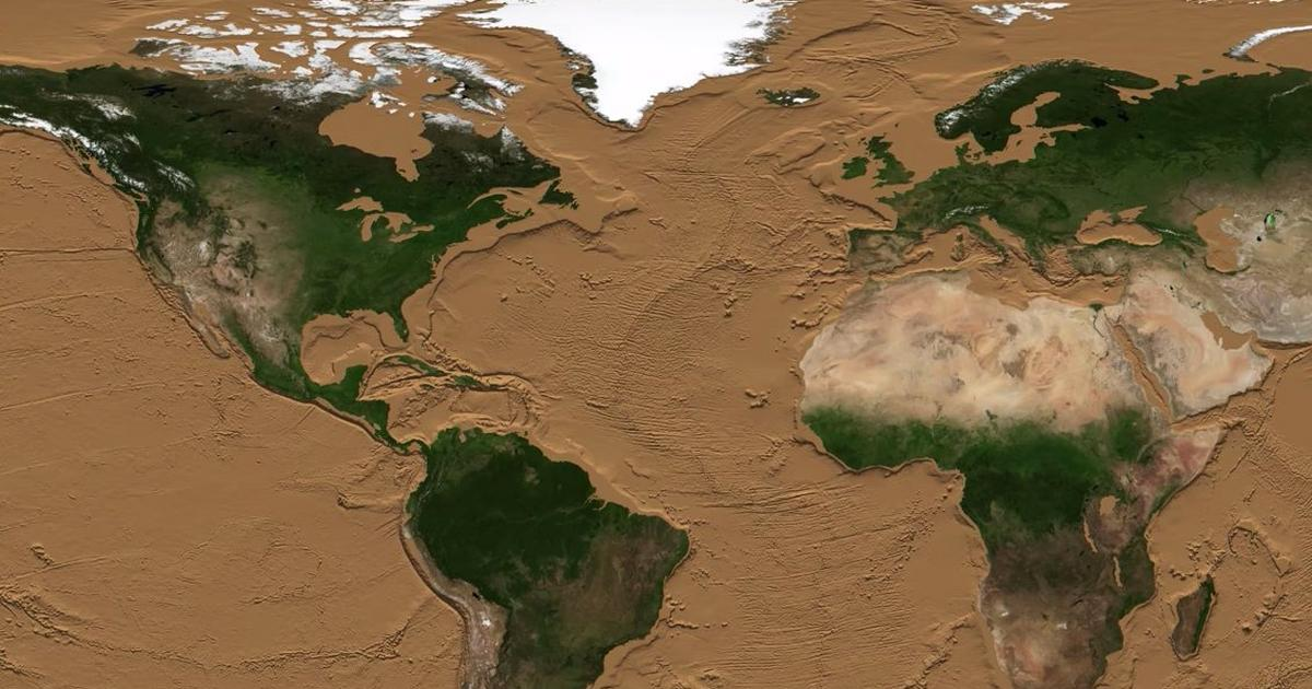 NASA slowly drains the oceans in an incredible animation, revealing hidden underwater mountain ranges and ancient land bridges - Pulse Ghana