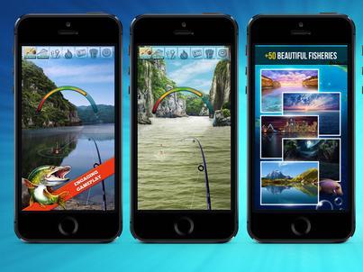 """Gra """"Let's Fish"""" pozwala użytkownikom wirtualnie łowić ryby na swoich smartfonach. To flagowy produkt firmy TSG"""