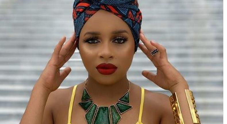 Tanzanian singer Nandy Mourning the death of her step-father called Frank Mfinanga.