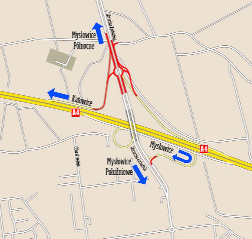 Mysłowice. Rozbudowa Węzła Mysłowice na autostradzie A-4