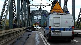 Policja złapała kierowcę, który spowodował wypadek na moście w Toruniu