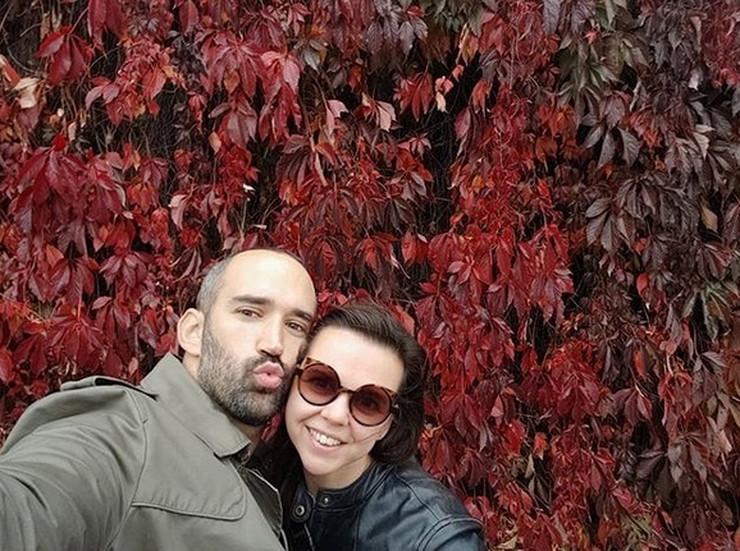 Marko Cindrić sa suprugom Reom