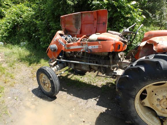 Traktor kojim je upravljao Vladimir