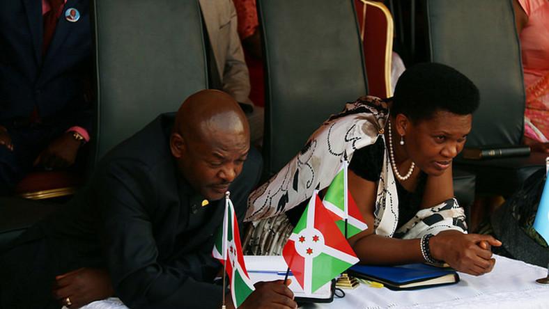 Burundi's President Pierre Nkurunziza with his wife Denise during a past function. Mrs Nkurunziza has tested positive for Coronavirus