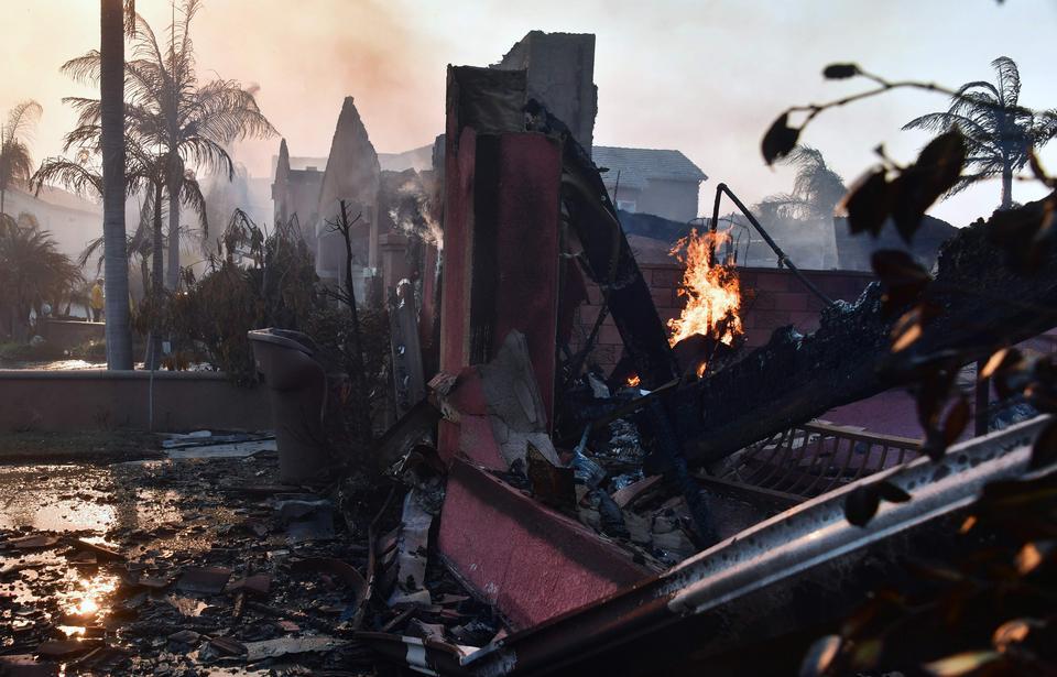 Zburzone budynki w dzielnicy Anaheim Hills w Anaheim