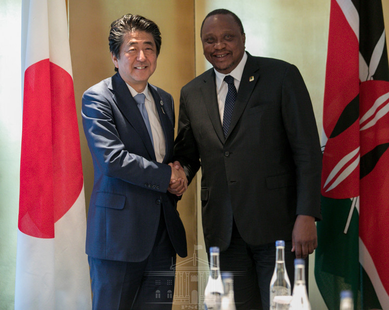 President Uhuru Kenyatta and Prime Minister Abe Shinzo hold bilateral talks on the sidelines of the ongoing TICAD7 in Yokohama, Japan