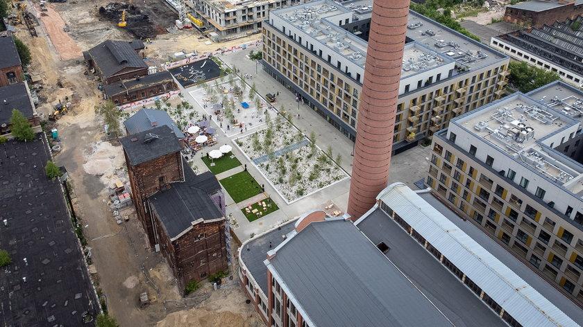 Ogrody Anny otwarte - miejski dziedziniec na terenie kompleksu Fuzja