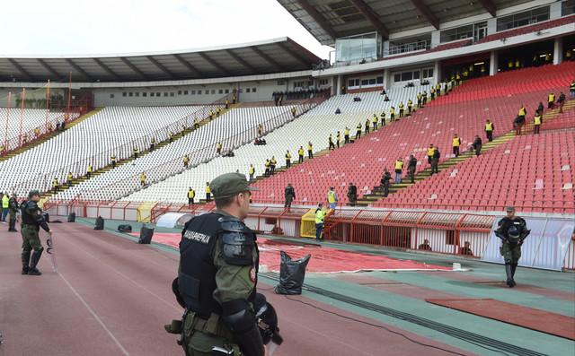 """Tribine stadiona """"Rajko Mitić"""" nisu još uvek popunjene"""