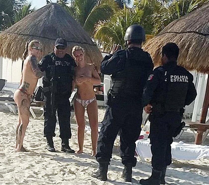 Policjanci zawieszeni. Wyciekły te zdjęcia