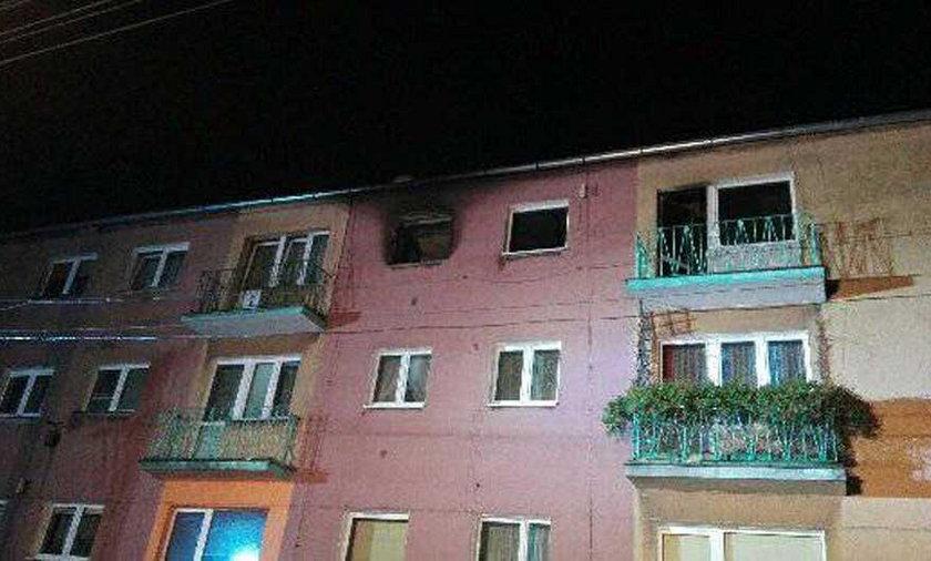 Eksplozja w bloku niedaleko Nowej Soli. Ranne dwie osoby