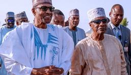 President Muhammadu Buhari (R) and Guinean President Alpha Conde  in Daura [Twitter/@BashirAhmaad]