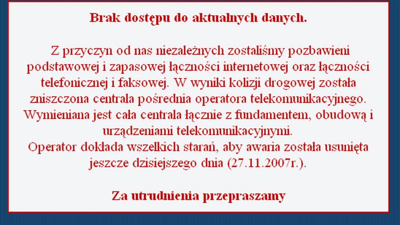 Obrazy z monitoringu drogowego zniknęły ze strony GDDKiA