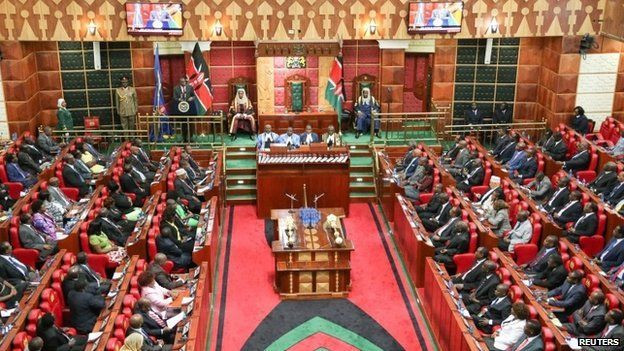 Kenyan parliament in session (Twitter)