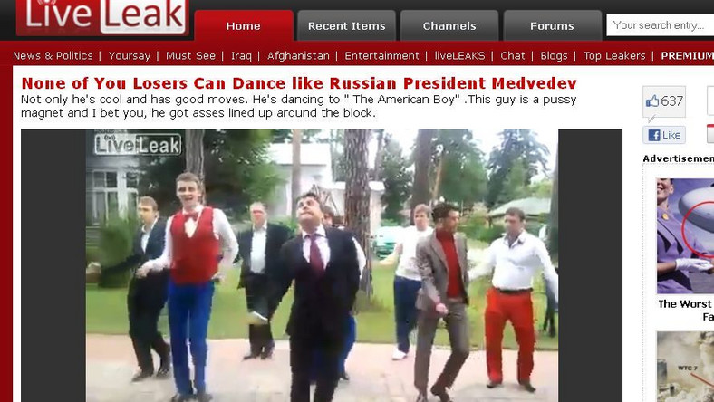 Tak rosyjski kabaret drwi z ruchów prezydenta