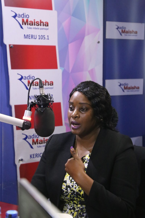 State House Spokesperson Kanze Dena during her interview at Radio Maisha (Twitter)
