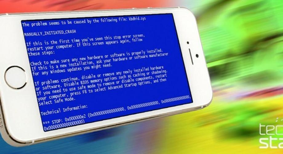 """""""Blue Screen of Death"""" zu Besuch auf dem iPhone 5S"""