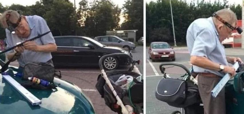 Pan Andrzej od 20 lat wymienia na parkingu wycieraczki. Teraz emeryt wreszcie będzie mógł odpocząć. Zebrano dla niego ogromną sumę!