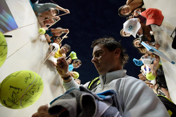 Rafael Nadal posle novog trijumfa u Melburnu