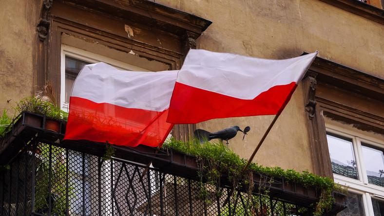 Polska flaga.