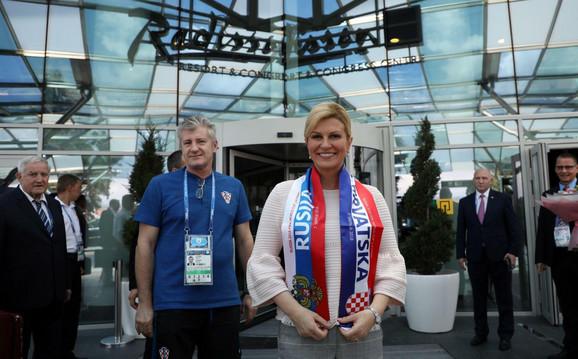 Davor Šuker sa predsednicom Hrvatske Kolindom Grabar Kitanović