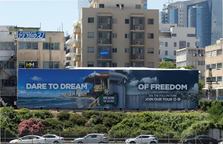 "Anti-occupation NGO Breaking the Silence has also erected a billboard in Israel with the slogan ""Dare to Dream of Freedom,"" playing on this year's Eurovision slogan ""Dare to Dream"""