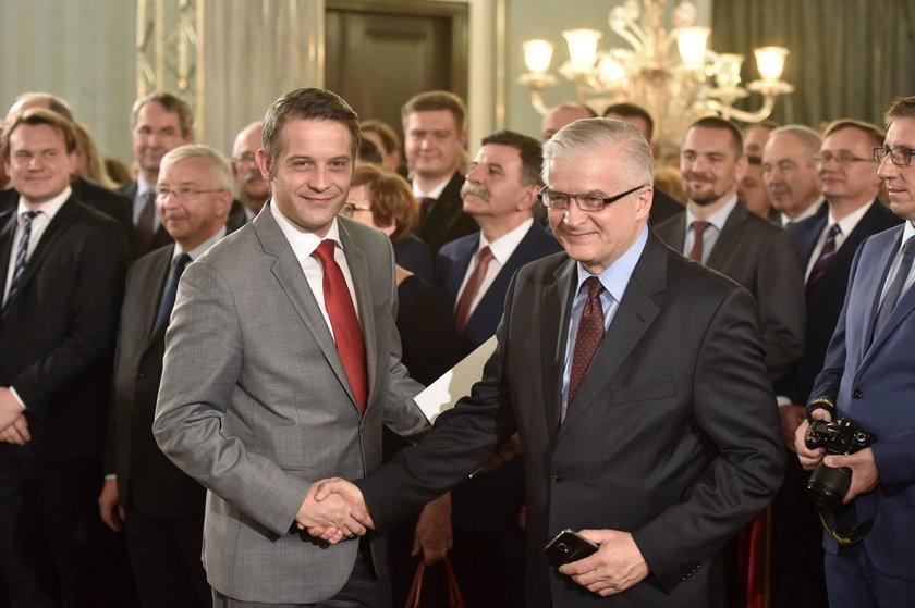 Włodzimierz Cimoszewicz z synem Tomaszem