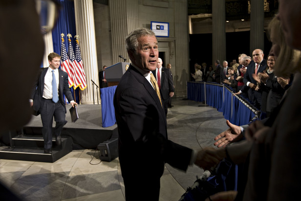 George Bush jeszcze jako prezydent USA