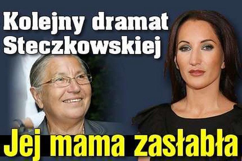 Kolejny dramat Steczkowskiej. Jej mama zasłabła